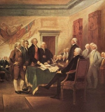 Detail from John Trumball's Signing of the Declaration