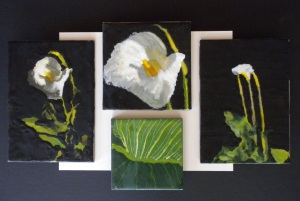 Encaustic Lily set 001